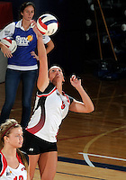 WKU outside hitter Paige Wessel (9) plays against Florida International in the semi-finals of the Sunbelt Conference Volleyball Tournament.  Western Kentucky won the match 3-0 on November 18, 2011 at Miami, Florida. .