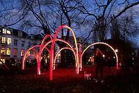 Amsterdam Light Festival. Lichtkunst.  Kunstwerk : Constell.ation