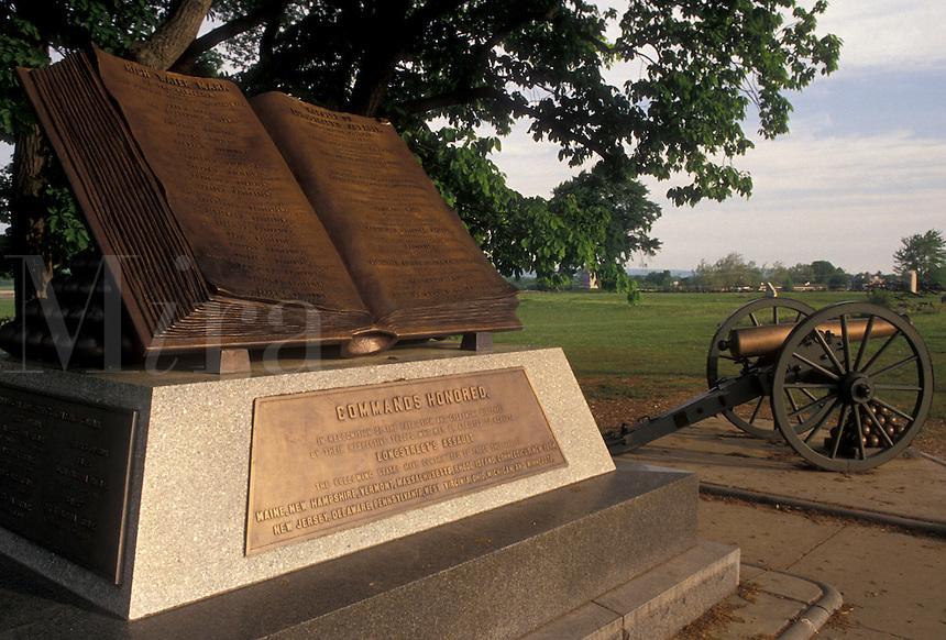 AJ4058, Gettysburg, civil war, battlefield, Gettysburg National Military Park, Pennsylvania, High Water Mark at Gettysburg Nat'l Military Park in Gettysburg in the state of Pennsylvania.