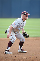 Boomer White (8) of the Texas A&M Aggies in the field at third base during a game against the Pepperdine Waves at Eddy D. Field Stadium on February 26, 2016 in Malibu, California. Pepperdine defeated Texas A&M, 7-5. (Larry Goren/Four Seam Images)