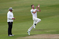 Oliver Hannon-Dalby in bowling action for Warwickshire during Warwickshire CCC vs Essex CCC, Specsavers County Championship Division 1 Cricket at Edgbaston Stadium on 12th September 2019