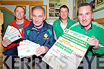 Pictured at the launch of the Legion GAA club Christmas party fundraiser at the Greyhound Stadium on December 16th were Brian Doolan, Tommy Regan, Alan O'Neill and Enda Walshe.