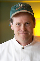 Hubert O'Farrell, chef cook and owner. The O'Farrell Restaurant, Acassuso, Buenos Aires Argentina, South America