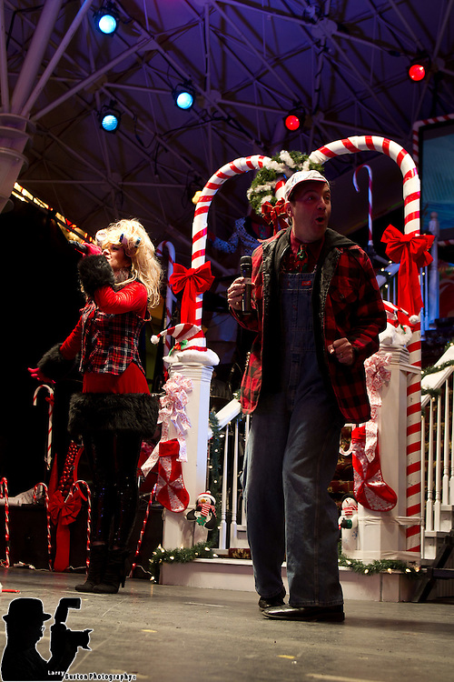 Dec 06 2011: Candy and the Canes perform on Fremont Street