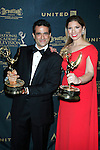 LOS ANGELES - May 1: Andre Suarez, Gabriela Natale at The 43rd Daytime Emmy Awards Gala at the Westin Bonaventure Hotel on May 1, 2016 in Los Angeles, California