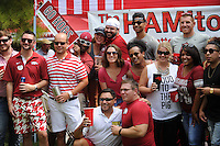 NWA Democrat-Gazette/ANDY SHUPE<br /> Saturday, Sept. 5, 2015, while tailgating outside Razorback Stadium in Fayetteville. Visit nwadg.com/photos to see more from the game.