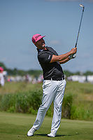 Scott Piercy (USA) watches his tee shot on  8 during round 4 of the AT&T Byron Nelson, Trinity Forest Golf Club, Dallas, Texas, USA. 5/12/2019.<br /> Picture: Golffile   Ken Murray<br /> <br /> <br /> All photo usage must carry mandatory copyright credit (© Golffile   Ken Murray)