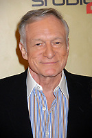"27 September 2017 - Hugh Marston Hefner aka ""Hef"" was an American magazine publisher, editor, businessman, and international playboy best known as the editor-in-chief and publisher of Playboy magazine, which he founded in 1953. Hefner was the founder and chief creative officer of Playboy Enterprises, the publishing group that operates the magazine. Hefner was also a political activist and philanthropist. File Photo: 13 December 2007 - Hollywood, California - Hugh Hefner. ""Remember To Give"" 2007 Holiday Party at Les Deux. Photo Credit: Byron Purvis/AdMedia (Newscom TagID: admphotos257320.jpg) [Photo via Newscom]"