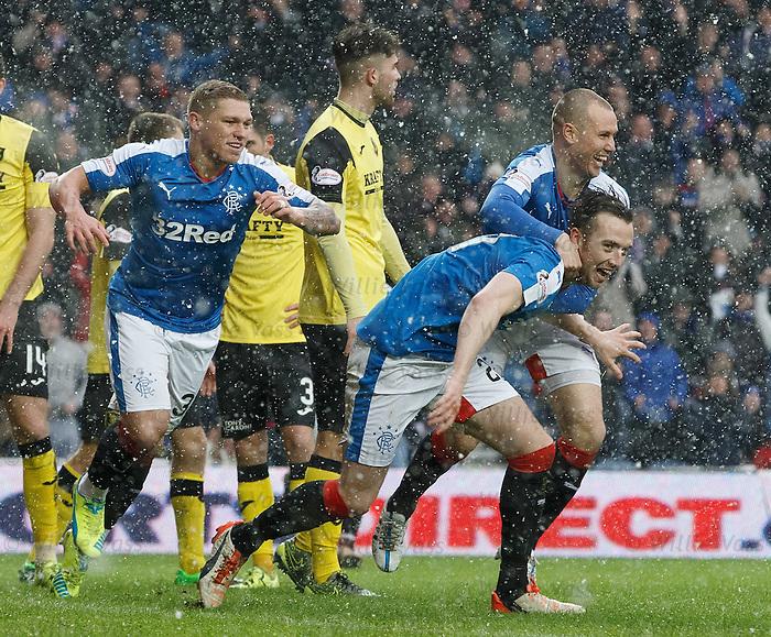 Danny Wilson celebrates his goal