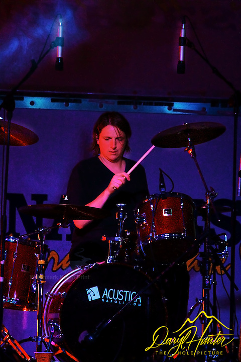 Drummer Damian Martin playing at Jason Michael Carroll Concert in Naples Italy