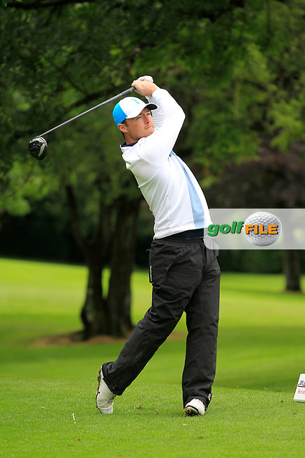 Eoin Arthurs (Forrest little) on the 3rd tee during round 1 of The Mullingar Scratch Cup in Mullingar Golf Club on Sunday 3rd August 2014.<br /> Picture:  Thos Caffrey / www.golffile.ie