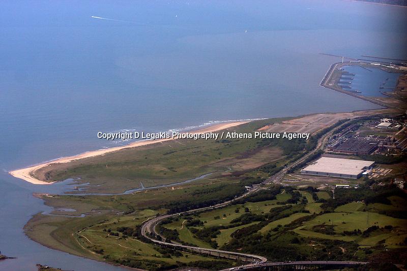 Aerial view of Amazon in Crymlyn Burrows near Swansea