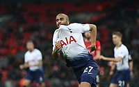 Tottenham Hotspur's Lucas celebrates scoring his side's second goal <br /> <br /> Photographer Rob Newell/CameraSport<br /> <br /> The Premier League - Tottenham Hotspur v Southampton - Wednesday 5th December 2018 - Wembley Stadium - London<br /> <br /> World Copyright © 2018 CameraSport. All rights reserved. 43 Linden Ave. Countesthorpe. Leicester. England. LE8 5PG - Tel: +44 (0) 116 277 4147 - admin@camerasport.com - www.camerasport.com