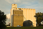 Corrugated and concrete grain elevators