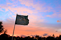 Sunset over the 9th green during the ProAm ahead of the Lyoness Open powered by Organic+ played at Diamond Country Club, Atzenbrugg, Austria. 8-11 June 2017 April.<br /> 07/06/2017.<br /> Picture: Golffile | Phil Inglis<br /> <br /> <br /> All photo usage must carry mandatory copyright credit (&copy; Golffile | Phil Inglis)