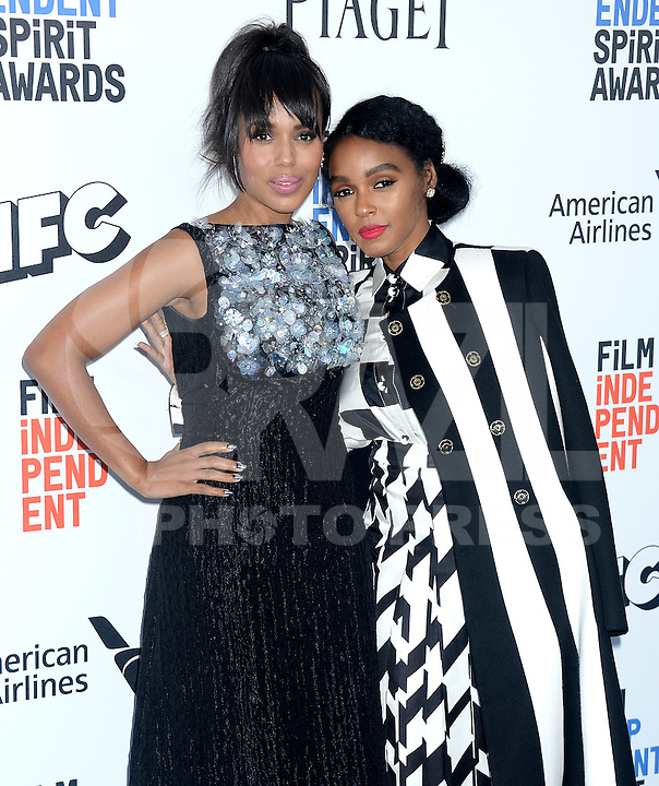 SANTA MONICA, 25.02.20-17 - SPIRIT-AWARDS - Kerry Washington e Naomie Harris durante Film Independent Spirit Awards em Santa Monica na California nos Estados Unidos (Foto: Gilbert Flores/Brazil Photo Press)