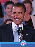 Barack Obama - Electric Smile<br /> Campaign event at Mountain Range HS on September 29, 2008 <br /> Westminster, Colorado