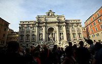 Italy, Rome, November 1, 2011..General view of the Fontana di Trevi in Rome November 1, 2011. VIEWpress / Kena Betancur.Rome is the capital of Italy and the country's largest and most populated city and comune, with over 2.7 million residents in 1,285.3 km2 (496.3 sq mi). The city is located in the central-western portion of the Italian Peninsula, on the Tiber River within the Lazio region of Italy.