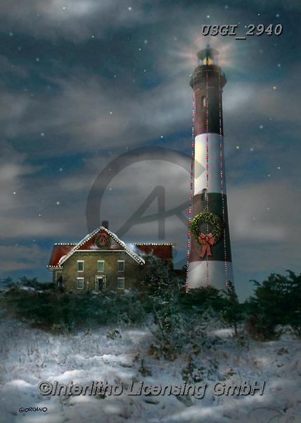 GIORDANO, CHRISTMAS SYMBOLS, WEIHNACHTEN SYMBOLE, NAVIDAD SÍMBOLOS, paintings+++++,USGI2940,#xl# ,winterlandscape
