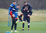 13.04.2018 Rangers training:<br /> Ross McCrorie and Russell Martin