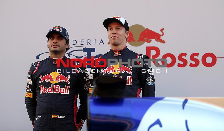 26.02.2017, Circuit de Catalunya, Barcelona, ESP, im Bild <br /> Daniil Kvyat (RUS#26), Scuderia Toro Rosso und Carlos Sainz Jr. (SPA#55), Scuderia Toro Rosso mit dem neuen Formel 1 Rennwagen von Toro Rosso<br /> Foto &copy; nordphoto / Bratic