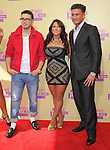 Vinnie,Deena and Pauly D of The Jersey Shore at The 2011 MTV Video Music Awards held at Staples Center in Los Angeles, California on September 06,2012                                                                   Copyright 2012  DVS / Hollywood Press Agency