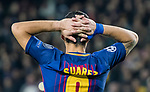Luis Alberto Suarez Diaz of FC Barcelona reacts during the UEFA Champions League 2017-18 match between FC Barcelona and Sporting CP at Camp Nou on 05 December 2017 in Barcelona, Spain. Photo by Vicens Gimenez / Power Sport Images