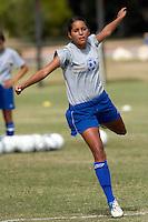 SAN ANTONIO, TX - OCTOBER 12, 2005: The St. Edward's University Hilltoppers vs. the St. Mary's University Rattlers Women's Soccer at the St. Mary's Soccer Field. (Photo by Jeff Huehn)