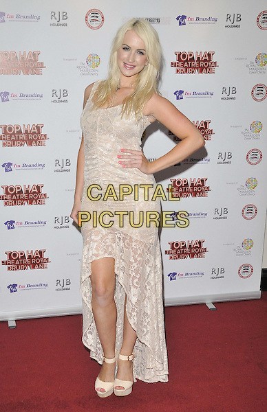 LONDON, ENGLAND - JULY 20: Leanne Jarvis attends the &quot;Top Hat&quot; charity fundraising show, Theatre Royal, Drury Lane, on Sunday July 20, 2014 in London, England, UK. <br /> CAP/CAN<br /> &copy;Can Nguyen/Capital Pictures
