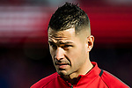 Victor Machin, Vitolo, of Atletico de Madrid warms up prior to the La Liga 2017-18 match between Atletico de Madrid and UD Las Palmas at Wanda Metropolitano  on January 28 2018 in Madrid, Spain. Photo by Diego Souto / Power Sport Images