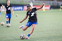 Boston, MA - Saturday April 29, 2017: Margaret Purce during warmups before a regular season National Women's Soccer League (NWSL) match between the Boston Breakers and Seattle Reign FC at Jordan Field.