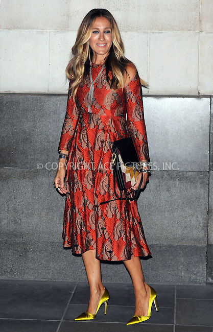 www.acepixs.com<br /> <br /> September 13 2016, London<br /> <br /> Sarah Jessica Parker attends the SJP Stash Launch Party at Cafe Royal on September 13, 2016 in London, England. <br /> <br /> By Line: Famous/ACE Pictures<br /> <br /> <br /> ACE Pictures Inc<br /> Tel: 6467670430<br /> Email: info@acepixs.com<br /> www.acepixs.com