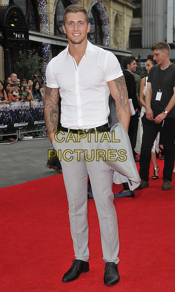 LONDON, ENGLAND - AUGUST 04: Dan Osborne attends the &quot;The Expendables 3&quot; UK film premiere, Odeon Leicester Square cinema, Leicester Square, on Monday August 04, 2014 in London, England, UK. <br /> CAP/CAN<br /> &copy;Can Nguyen/Capital Pictures