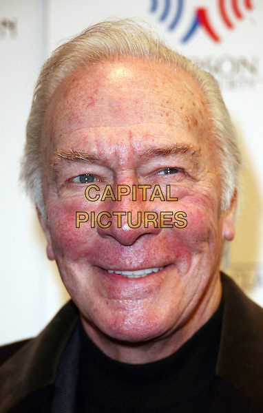 "CHRISTOPHER PLUMMER .New York City Premiere of ""The Last Station"" held at the Paris Theater, New York, NY, USA, .11th January 2010..portrait headshot smiling .CAP/ADM/PZ.©Paul Zimmerman/AdMedia/Capital Pictures."