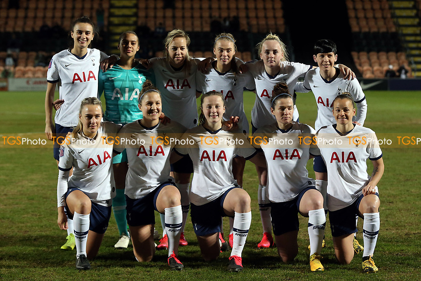 Tottenham women line up before Tottenham Hotspur Women vs Everton Women, Barclays FA Women's Super League Football at the Hive Stadium on 12th February 2020