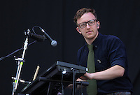 Pictured: Public Service Broadcasting Saturday May 2016<br /> Re: Manic Street Preachers at the Liberty Stadium, Swansea, Wales, UK
