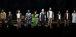 Ahmad Simmons, Eva Noblezada, Afra Hines, Andre De Shields, Amber Gray, Patrick Page, Timothy Hughes, Kimberly Marable and Reeve Carney during Broadway Opening Night Performance Curtain Call for 'Hadestown' at the Walter Kerr Theatre on April 17, 2019 in New York City.