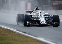MARCUS ERICSSON (SWE) of Alfa Romeo Sauber F1 Team during Day 2 of the 2018 Formula 1 Testing at the Circuit de Catalunya, Barcelona. on 27 February 2018. Photo by Vince  Mignott.