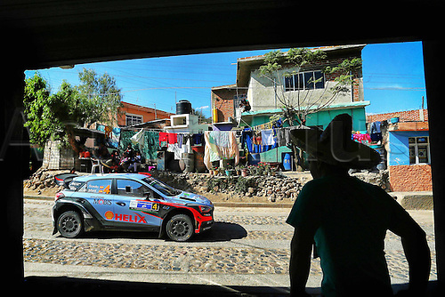 06.03.2016. Leon, Mexico. WRC Rally of Mexico, final stage.  Dani Sordo (ESP) – Marc Marti (ESP) - Hyundai i20 WRC