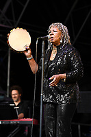 BRIXTON, ENGLAND - JUNE 9: Martha Reeves of 'Martha Reeves and The Vandellas' performing at Cross The Tracks Festival, Brockwell Park on June 9, 2019 in Brixton, England.<br /> CAP/MAR<br /> ©MAR/Capital Pictures