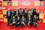 Cast Dani Rovira, Clara Lago, Karra Elejalde, Carmen Machi, Berto Romero, Belen Cuesta, Alberto Lopez and Alfonso Sanchez `8 apellidos catalanes´ film premiere in Madrid, Spain. November 18, 2015. (ALTERPHOTOS/Victor Blanco)