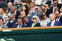 LONDON, ENGLAND - JULY 06: David Cameron, Sebastian Coe, William Hague at day five of the Wimbledon Tennis Championships at the The All England Lawn Tennis Club on July 6, 2018 in London, England<br /> CAP/MPI122<br /> &copy;MPI122/Capital Pictures