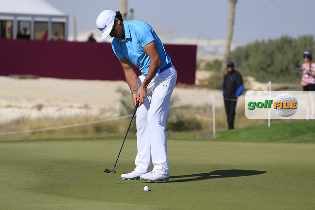 Rafa CABRERA-BELLO (ESP) putts on the 10th green during Thursday's Round 2 of the 2015 Commercial Bank Qatar Masters held at Doha Golf Club, Doha, Qatar.: Picture Eoin Clarke, www.golffile.ie: 1/22/2015