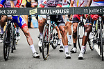 Ready to start Stage 6 of the 2019 Tour de France running 160.5km from Mulhouse to La Planche des Belles Filles, France. 11th July 2019.<br /> Picture: ASO/Pauline Ballet | Cyclefile<br /> All photos usage must carry mandatory copyright credit (© Cyclefile | ASO/Pauline Ballet)