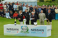 Captain Mark Varley, speaking at the final of the Nissan Irish open in Co Louth Golf Club.Photo NEWSFILE/FRAN CAFFREY..(Photo credit should read FRAN CAFFREY/NEWSFILE)...This Picture has been sent you under the condtions enclosed by:.Newsfile Ltd..the Studio,.Millmount Abbey,.Drogheda,.Co Meath..Ireland..Tel: +353(0)41-9871240.Fax: +353(0)41-9871260.GSM: +353(0)86-2500958.email: pictures@newsfile.ie.www.newsfile.ie.FTP: 193.120.102.198..This picture is from Fran Caffrey@newsfile.ie