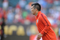 Philadelphia, PA - Tuesday June 14, 2016: Gary Medel prior to a Copa America Centenario Group D match between Chile (CHI) and Panama (PAN) at Lincoln Financial Field.