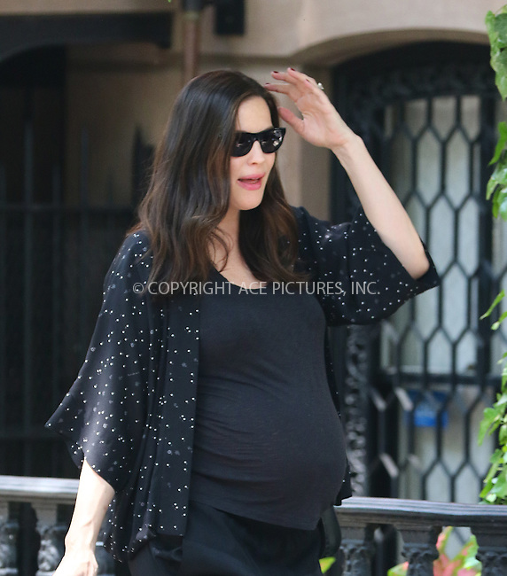 WWW.ACEPIXS.COM<br /> <br /> May 26 2016, New York City<br /> <br /> Pregnant actress Liv Tyler wears all black as she leaves her West Village Brownstone on May 26 2016 in New York City<br /> <br /> By Line: Zelig Shaul/ACE Pictures<br /> <br /> <br /> ACE Pictures, Inc.<br /> tel: 646 769 0430<br /> Email: info@acepixs.com<br /> www.acepixs.com