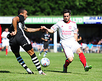 Lincoln City's Nathan Arnold vies for possession with Lincoln United's Kallum Smith<br /> <br /> Photographer Chris Vaughan/CameraSport<br /> <br /> Football - Pre-Season Friendly - Lincoln United v Lincoln City - Saturday 8th July 2017 - Sun Hat Villas Stadium - Lincoln<br /> <br /> World Copyright &copy; 2017 CameraSport. All rights reserved. 43 Linden Ave. Countesthorpe. Leicester. England. LE8 5PG - Tel: +44 (0) 116 277 4147 - admin@camerasport.com - www.camerasport.com