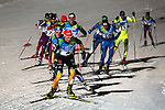 Athletes compete during the Nordic Combined NH / 10 km as part of the Winter Universiade Trentino 2013 on 13/12/2013 in Predazzo, Italy.<br /> <br /> &copy; Pierre Teyssot - www.pierreteyssot.com