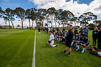 The Barbarians replacements bench during the international rugby match between  New Zealand Schools Barbarians and Tonga Schools at the Sport and Rugby Institute in Palmerston North, New Zealand on Thursday, 28 September 2017. Photo: Dave Lintott / lintottphoto.co.nz